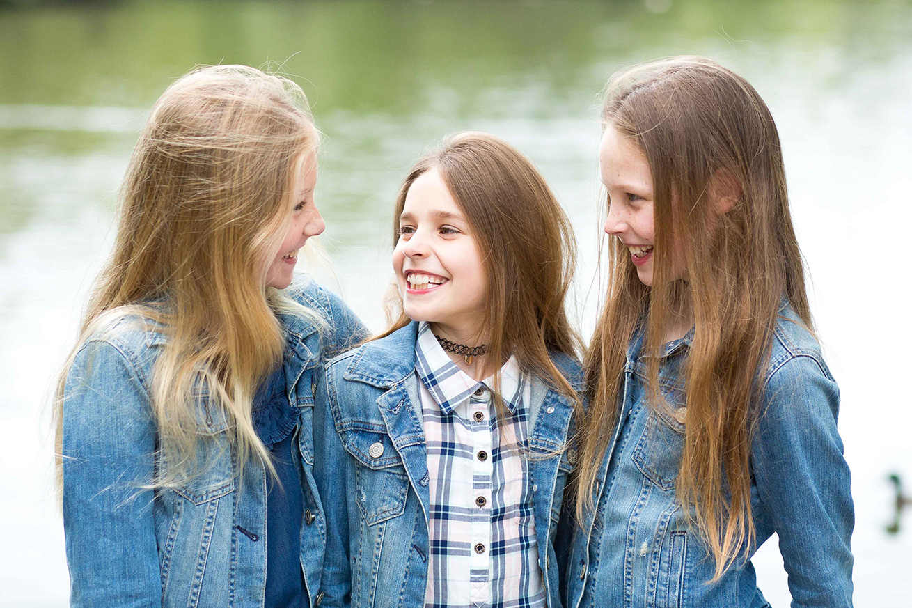 Three Sisters Smiling Family Photography